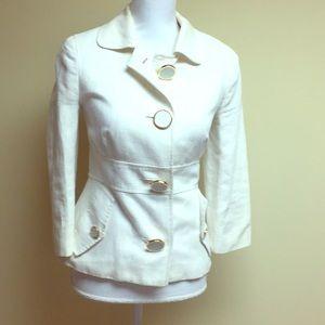Tory Burch spring summer off-white cotton blazer
